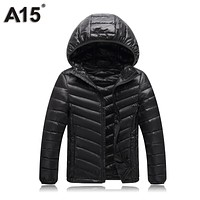 A15 Boys Winter Jacket 2018 New Brand Hooded Kids Girls Winter Coat Long Sleeve Warm Parka Teen Children Outwear Age 10 12 14 16