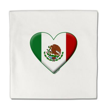 "Mexican Flag Heart - Beveled Micro Fleece 14""x14"" Pillow Sham by TooLoud"