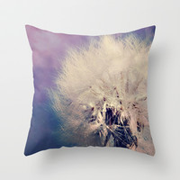 Dandelion Throw Pillow by LJehle