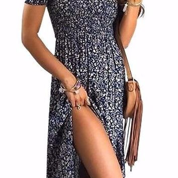 Womens Spring Floral Maxi Dress