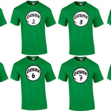 Drunk t-shirt. Drunk 1 Drunk 2 ,3 ,4 , 5 , 6 . S-5XL. Drunk shirt. hang over, Irish day, St Patrick's Day shirt. bachelorette party shirt.
