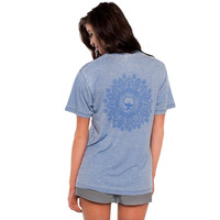Vintage Burnout Tee in Grape Blue by The Southern Shirt Co. - FINAL SALE