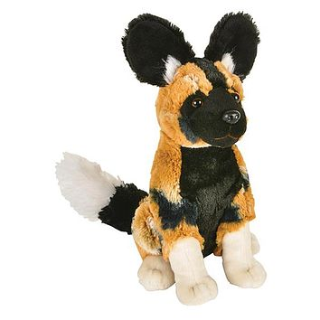 8 Inch African Painted Dog Stuffed Animal Plush Floppy Zoo Species Collection