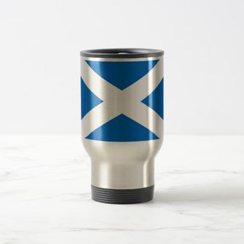 Travel Mug with Flag of Scotland