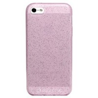 Diztronic Pink GlitterFlex Flexible TPU Case for Apple iPhone 5 / 5S - Retail Packaging