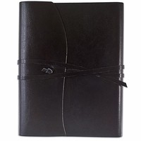 Toscana Hardbound Bonded Leather Journal Black