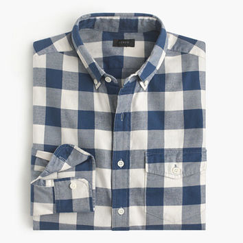J.Crew Mens Slim Brushed Twill Shirt In Batavia Gingham
