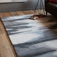 Faded Ikat Wool Rug