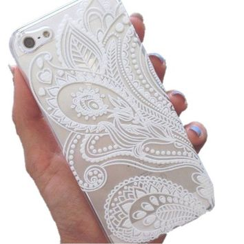 iPhone 6S Case,iPhone 6 Case,Hundromi iphone 6 6S Plastic Transparent Clear Case Cover Henna Full Mandala Floral Dream Catcher for iPhone 6/6S(4.7-inch)