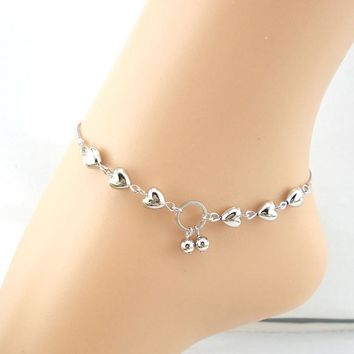 Heart And Cherries Ankle Bracelet
