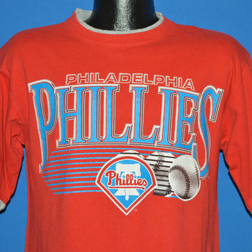 90s Philadelphia Phillies Roll Up Sleeves t-shirt Medium