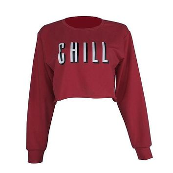 Chill Crop Top Light Sweater