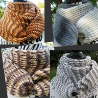knitted scarf 4 pieces - gift for you and for your loved ones. knit scarf. Infinity Scarf. Scarf on the button. scarf for men. Scarf women