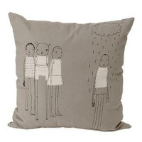 RAIN ORGANIC COTTON AND HEMP PILLOW | Funky, Original And Modern Sustainable Pillows By Mary And Shelly Klein Of K Studio | UncommonGoods