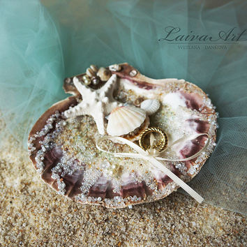Seashell Wedding Ring Bearer Pillow Ring Holder Beach Wedding Ring Bearer Pillow Shell Nautical Wedding Beach Wedding