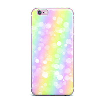 "KESS Original ""Pastel Prism"" Rainbow Bokeh iPhone Case"