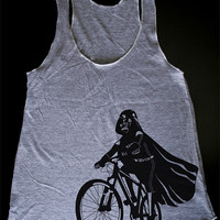 Darth Vader is Riding It Womens Tank Top printed by ironspider