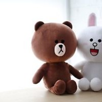 Naver Line Friends - Official Goods : Character Doll 35cm (2 Type)