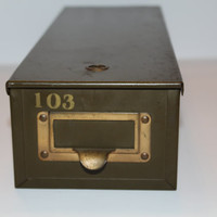 Vintage 1940s Safetly Deopsit Box Home Decor Office Storage