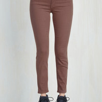 Skinny Solid Sense of Style Jeans in Mauve