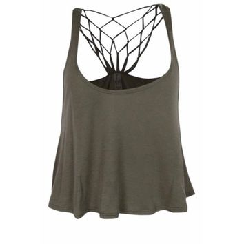 Raisins Women's Swim Coverup Cropped Tank Top - Walmart.com