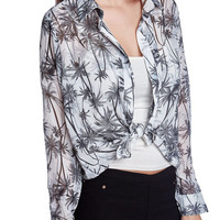 Shirt with palm tree print