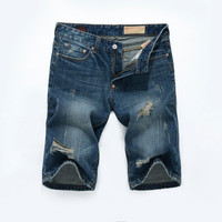 Summer Ripped Holes Pants Slim Jeans [6541850115]
