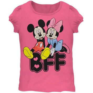 ICIK8UT Minnie Mouse BFF Hearts Juvy Girls T-Shirt