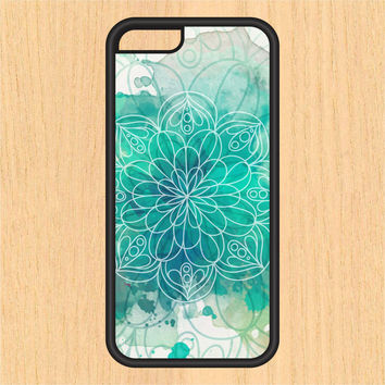 Aqua Watercolor Mandala in Space PC SEC1 Print Design Art iPhone 4 / 4s / 5 / 5s / 5c /6 / 6s /6+ Apple Samsung Galaxy S3 / S4 / S5 / S6