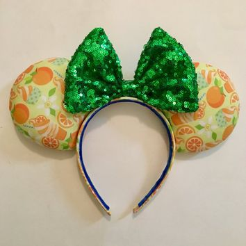 Citrus Swirl Minnie Mouse Ears!