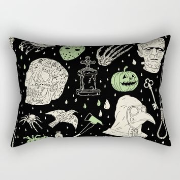 Whole Lot More Horror: BLK Ed. Rectangular Pillow by Josh Ln