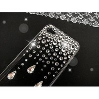 3D Bling Crystal iPhone Case for AT&T Verizon Sprint Apple iPhone 4/4S Rain Drop