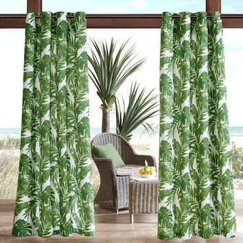 Madison Park 1-Panel Navio 3M Scotchgard Outdoor Curtain