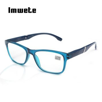 Imwete Unisex Glasses Fashion Hyperopia Reading Glasses Men Women HD Resin Lens Presbyopic Reading Glasses 1.5 +2.5 +3.5 +4.0