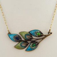 Peacock Feather Necklace - Faerie