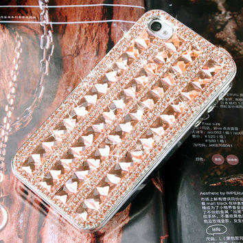 1PC Bling Glass Cube Studded Geometric iPhone 4s,4g iPhone 5,5s,5C Cell Phone Case Cover