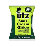 Utz Sour Cream and Onion Potato Chips 1.5 oz Bags - Pack of 21