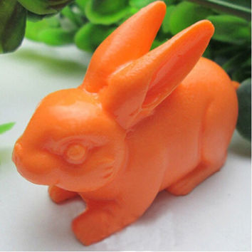 Easter Rabbit Soap Mold Animal Silicone Cake Molds Resin Clay Candle Bunny Fondant Chocolate Mould Kitchen Baking Cake Tools