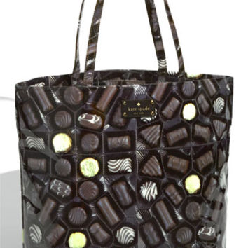 kate spade new york 'daycation chocolate' coated canvas bon shopper | Nordstrom