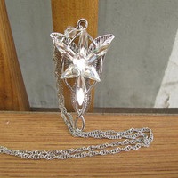 Aragorn Arwen Evenstar Necklace LOTR Lord of the Rings Pendant zircon Necklace Fashion Jewelry
