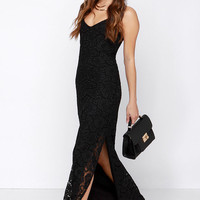 BB Dakota Rumer Black Lace Maxi Dress
