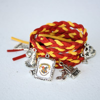 Harry Potter wrap charm bracelet handmade couture by PixieCharms