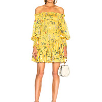 Alexis Gemina Dress in Botanical Yellow | FWRD