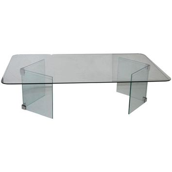 Pre-owned Pace Hollywood Regency Glass Coffee Table