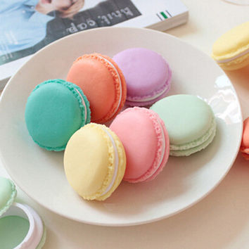 New Arrival Cute Macaroon Cookie Shape Candy Color Mini Storage Box Jewelry Box