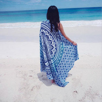 Bohemian Wall Hanging Tapestries Beach Towel Shawls Yoga Mat Home Decor green/ purple/blue /orange
