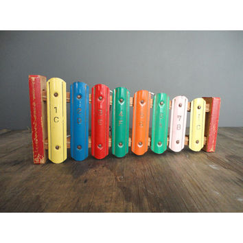 Colorful Vintage Xylophone - 1950 Toy