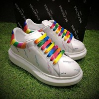 Balenciaga 17ss White Rainbow Casual Shoes Men Women Sport Shoes - Beauty Ticks