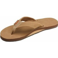 Rainbow Basic Leather Sandals - Expresso Med