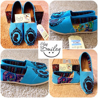 Disney Beauty and the Beast Silhouette hand painted toms